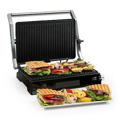 Barbecue Grill Presse Panini Multifonctions Electrique Double Thermostat - Noir