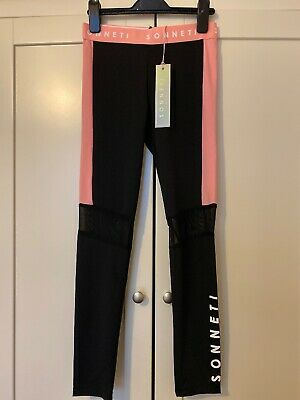 Sonetti Leggings Age 12-13 Pink And Black New With Tags Girls Sportswear