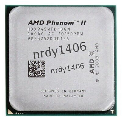 Socket X4 AMD Processor Phenom 945 3.0Ghz II cpu AM3 Quad-Core L3=6MB 938-pin ●