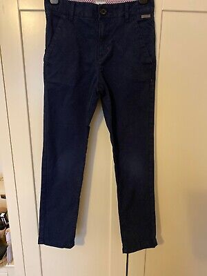 Boys Ted Baker Navy Blue Chinos Age 8 Worn Handful Times Adjustable Waist Pocket