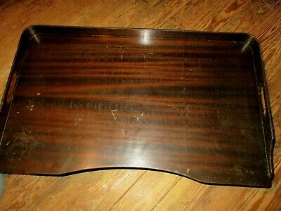 Antique Dark Finish Wood Wooden Lap Desk Bed Serving Breakfast Tray