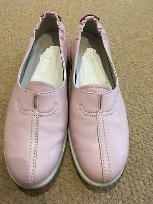 Rohde Pink Leather Loafers Size 6