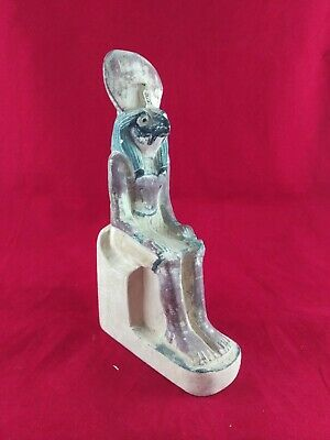 Ancient Egyptian Antiquities Statue of God Horus  (300 -250 BC)