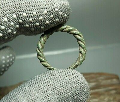 Rare Ancient Antique Bronze jewelry temporal Ring Viking Age 9-12 cen.AD #2655