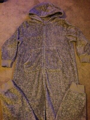 Boys Next Onesie ( Not Gerber)Age 11 Grey Zipped With Pockets