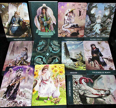 New ~ Open For Photo ~ Raven's Wand Oracle Cards & Book Profound Wisdom Of Wicca