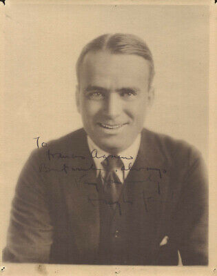 Douglas Fairbanks Sr. - Autographed Inscribed Photograph
