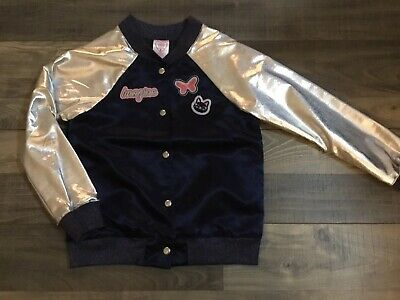 Girls Navy Blue And Silver Jacket Size 8 NWOT