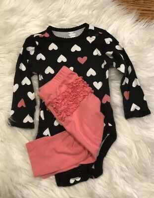 Old Navy Baby Girls 6-12 Months Outfit Set! Ruffle Butt! Valentines Day Play*