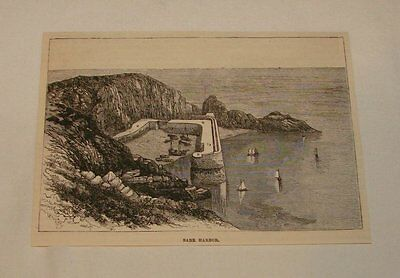 1885 magazine engraving ~ SARK HARBOR