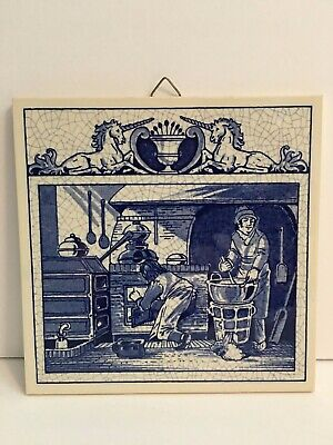 Burroughs Wellcome Co Delft Holland Pharmacy Pill Tile  Pharmacists Laboratory