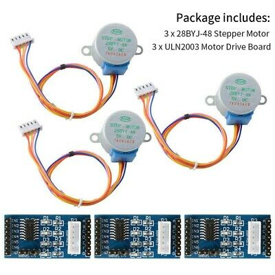3X Set ULN2003 Motor Drivers Board DC 5V Steppers Motor 28BYJ-48 for Arduino Hot