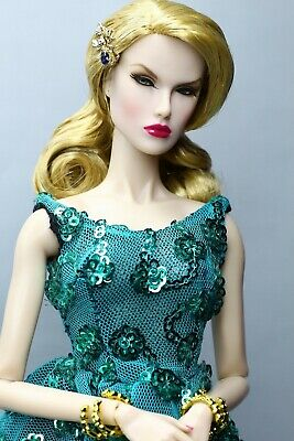 Fashion Royalty Green Evening Dress With Sequins For Integritytoys, FR2, Barbie