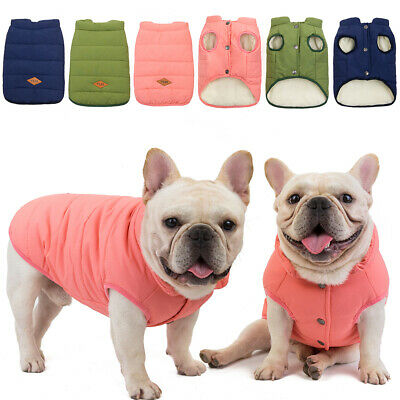 UK Warm Pet Dog Coat Fleece Jacket Puppy Jumper Sweater Winter Protector Outfits