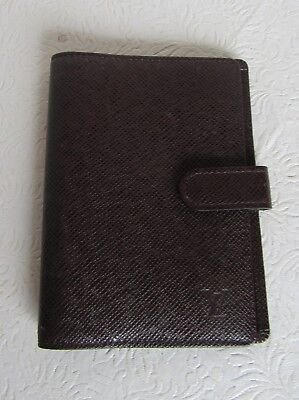 Louis Vuitton Taiga Leather Agenda CA0918 Authenticity Verified
