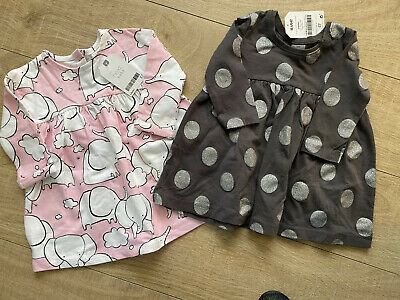 Baby Girls Bundle Of 2 Next Dresses 3-6 Months BNWT