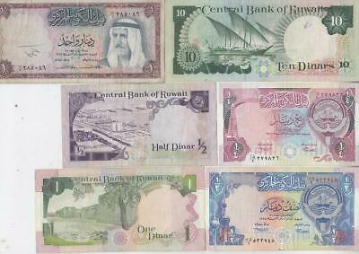 10 Different Kuwait Banknotes, Middle East Arabic   F37