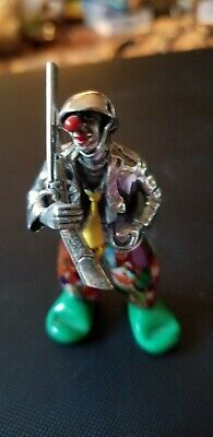 Angini Murano Sterling Silver Circus Clown Pugliacci D'argento With Rifle Excell