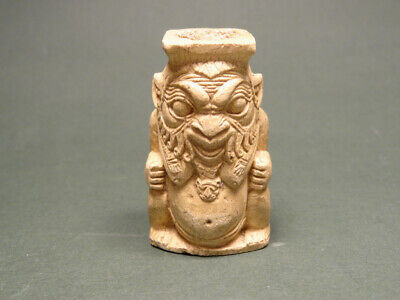 Egyptian God Bes Cosmetic Container Late Period 716-30 Bc