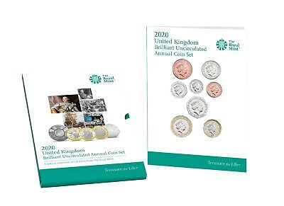 NEW The 2020 United Kingdom Annual Brilliant Uncirculated Coin Set Royal Mint BU
