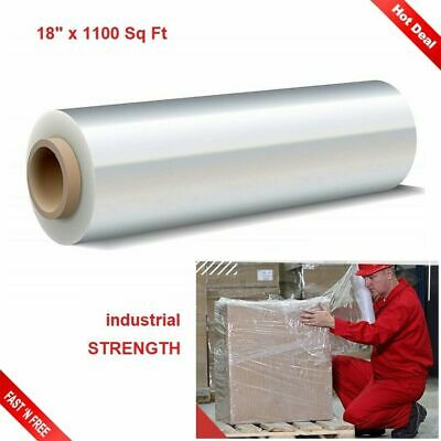 Clear Stretch Wrap Cling Film Pallet Plastic Strong 1100 Sq Ft Furniture Packing