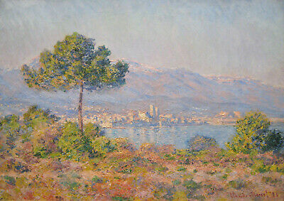Antibes Seen From The Plateau Notre-Dame by Claude Monet 32x24 Museum Art Print
