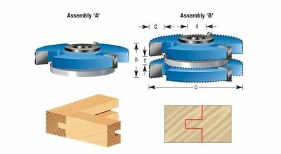 Reversible Shaker Style Tongue & Groove Shaper Cutter Set for 3/4 Inch Material