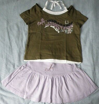 Matching Top/Skirt Set girl 5-7 yrs old 116/122cm VGC