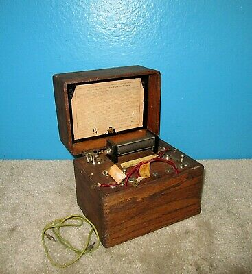 Faradic Battery in Wood Case Free Shipping