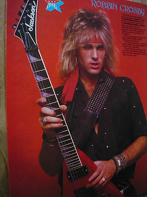 ROBBIN CROSBY PHOTO WARREN DEMARTINI RATT 8x10 Concert Photo by Marty Temme 1C