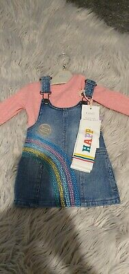 Baby Girls Next Dress Top And Sock Set Age 6-9Mths Bnwt