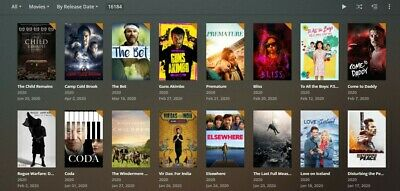 Plex 12 Month Subscription 16000 Movies + 6000 Boxsets = WORLDS BIGGEST SERVER