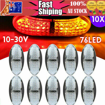 10 X Amber/Red Clearance Lights Side Marker 4 LED Trailer Truck Caravan 12V 24V