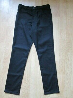 Boy's School Clothing By George Black Trousers Size Age 9-10 Years 135-140