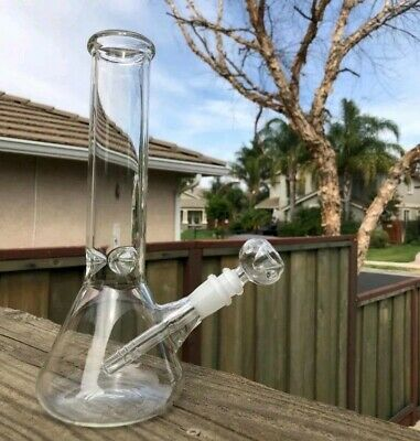 Hookah Water Pipe Heavy Glass Bong 10 inch Smoking Pipe Beaker With ICE catcher