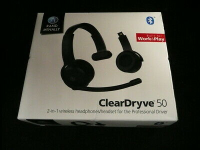 Rand McNally Clear Dryve  50 Bluetooth 2- in -1 wireless Headphone/ Headset