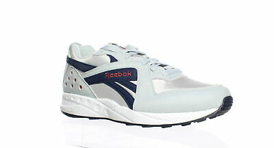 Reebok Mens Pyro Cold Grey/Collegiate Navy/Meteor Red/White Running Shoes Size