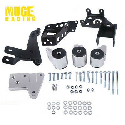 K SWAP K24 K20 6061 ALUMINUM BILLET MOTOR MOUNTS BRACKET KIT 96-00 HONDA CIVIC