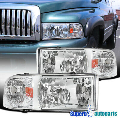 For 1994-2001 Dodge Ram 1500/2500/3500 1PC Headlights Head Lamps Replacement