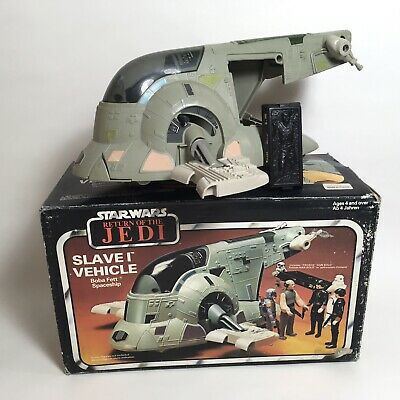 Vintage 1980's Palitoy Star Wars Vehicle Boba Fett Slave 1 Carbonite Boxed