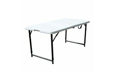 Heavy Duty Folding Table Portable Foldable Plastic Camping Garden Party Trestle