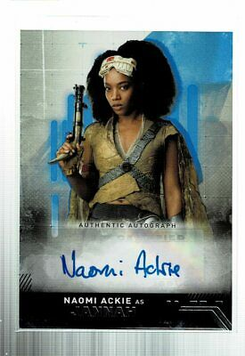 2019 Topps Star Wars Rise of Skywalker Naomi Ackie Jannah Blue AUTO /99 (KD)