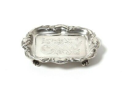 A small silver trinket dish.  Sweden, mid-19th century.