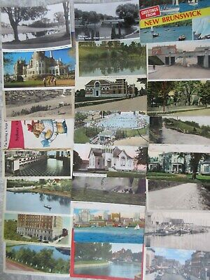 70 Mixed Lot Old & Antique Used Canada Postcards Various Provinces