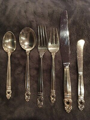 VTG Royal Danish International Sterling  Place Setting 6 Pc Free Shipping