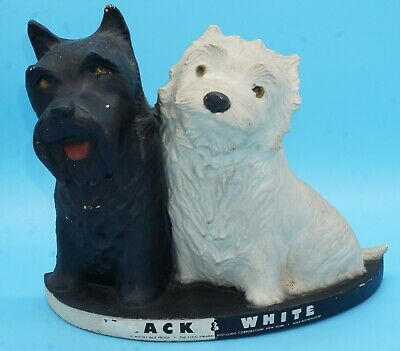 Black & White Scotch Whiskey (Two Dogs) Back Bar Display