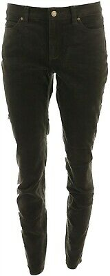 Vince Camuto Washed Corduroy 5-Pocket Skinny Pants Rich Olive 16 NEW A343751