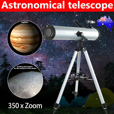 AU Astronomical HD Telescope 114mm Aperture 675x Zoom Night Vision with Tripod