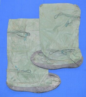 Russian USSR Army NUCLEAR & CHEMICAL SOCKS rubberized Waders sz. XL