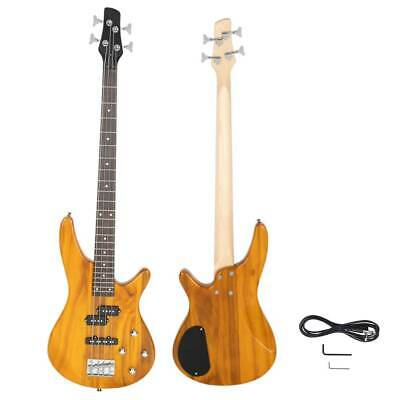 New Transparent YellowNew Transparent Yellow 4 Strings Electric IB Bass Guitar